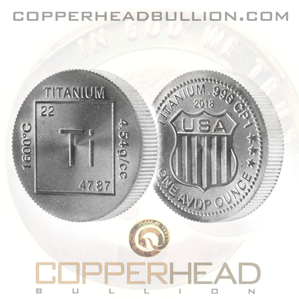 1 oz Titanium Round - Element Design