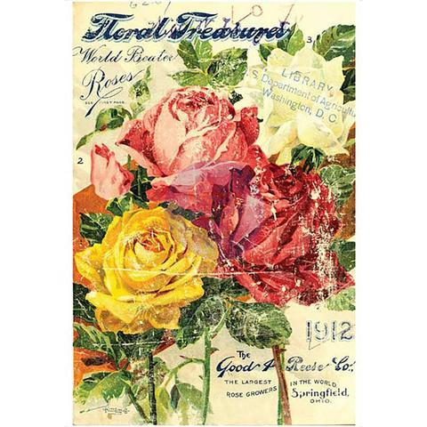 IOD Decor Transfer: Floral 24 x 34