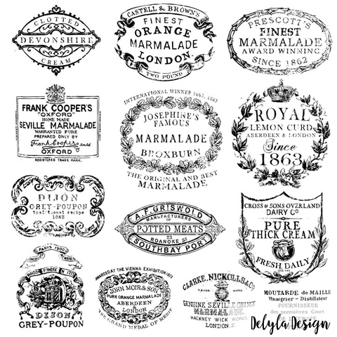 IOD Decor Stamp- { Crockery }