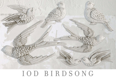 IOD Decor Moulds: BIRDSONG  { Shipping 4/16 }