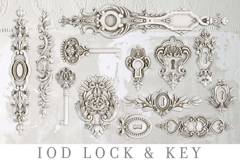 IOD Decor Moulds: LOCK & KEY