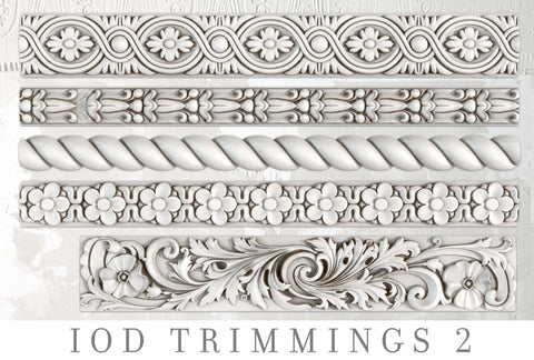IOD Decor Moulds:TRIMMINGS 2  { Shipping 4/16 }
