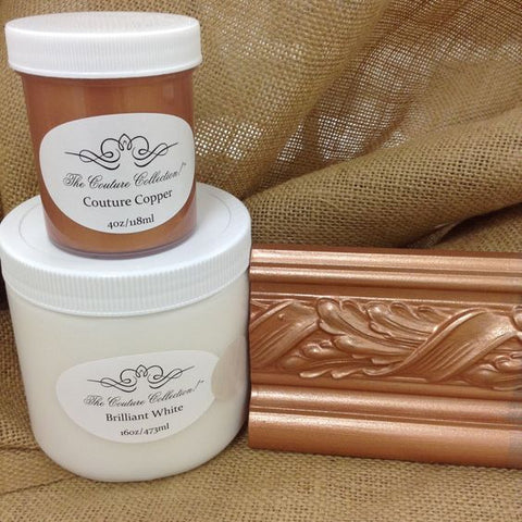 Rose Gold Metallic Finish- Mix Brilliant White & Couture Copper Metallic Paints