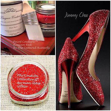 Ruby Slipper German Glass Glitter