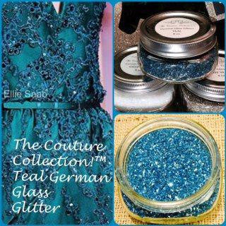 Teal German Glass Glitter