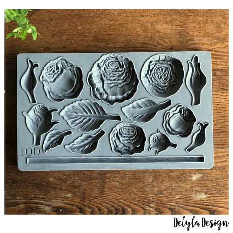 IOD Decor Moulds: HEIRLOOM ROSES