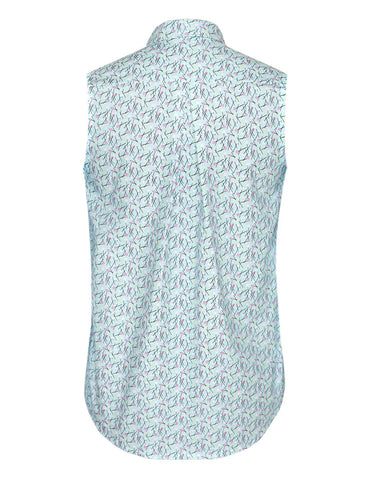 Pins Blue Sleeveless
