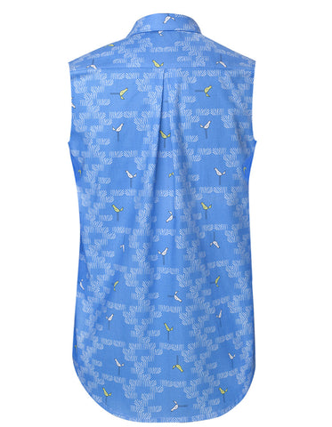 Birds Blue Sleeveless