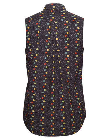 Dots Black Sleeveless