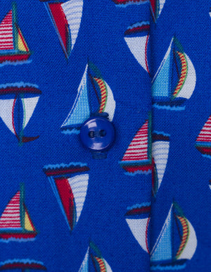 Boats Blue Sleeveless