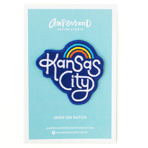 Retro Kansas City Embroidered Iron-on Patch