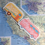Retro Bus & Trailer Sticker Set