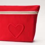 Red Heart Cosmetic Bag
