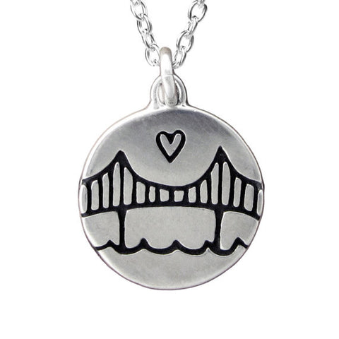 Sterling Silver Golden Gate Bridge Necklace