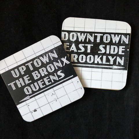 Subway Tile Coasters (Set of 2)
