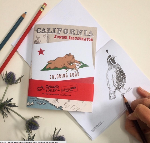 California Junior Illustrator Coloring Book