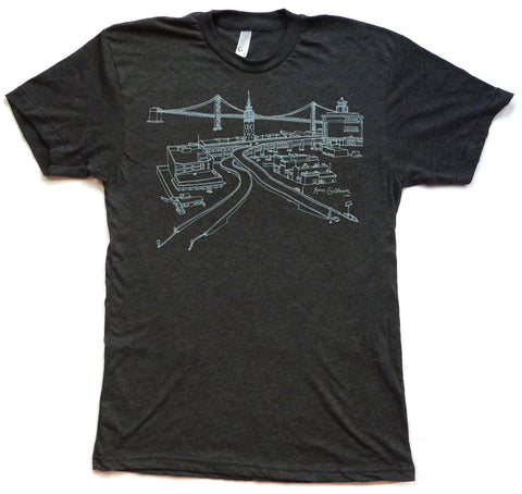 Ferry Building and Bay Bridge Tee