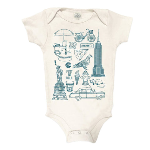 """NYC"" Organic Cotton Onesie"