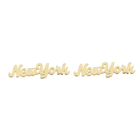 New York Earrings (Gold Plated Sterling Silver)