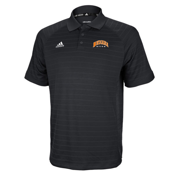 Black adidas Select Polo w/ embroidered Indiana Elite Logo