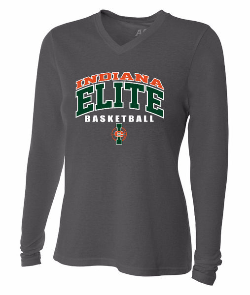 Women's Gray Long Sleeve Indiana Elite Cotton Shirt