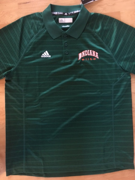 Green adidas Select Polo w/ embroidered Indiana Elite Logo