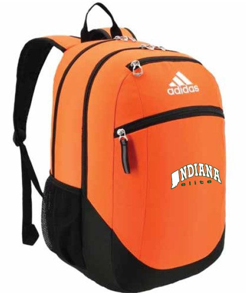 Orange adidas Backpack w/ Indiana Elite Embroidered Logo