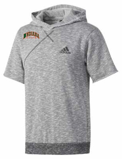 adidas Cross Up Indiana Elite Short Sleeve Hoody w/ Embroidered Logo