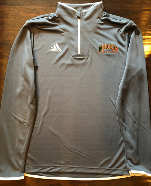 Gray adidas 1/4 Zip Pullover- 1 ADULT LARGE AVAILABLE