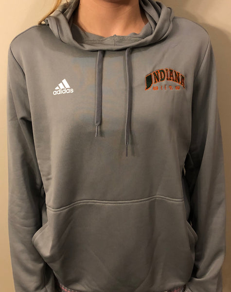 Women's Gray adidas Climacool Long Sleeve Hoody