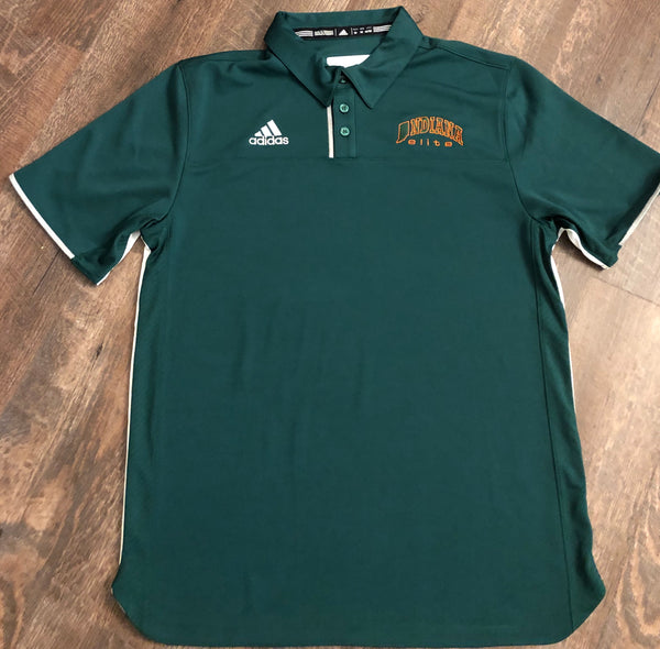 Green adidas Indiana Elite Utility Polo- 2 ADULT LARGE AVAILABLE