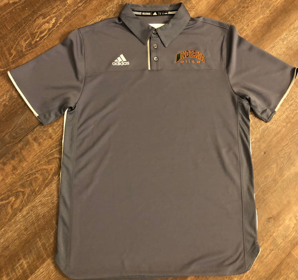 Gray adidas Indiana Elite Utility Polo