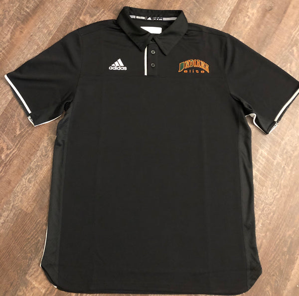 Black adidas Indiana Elite Utility Polo- 2 ADULT MEDIUM AVAILABLE