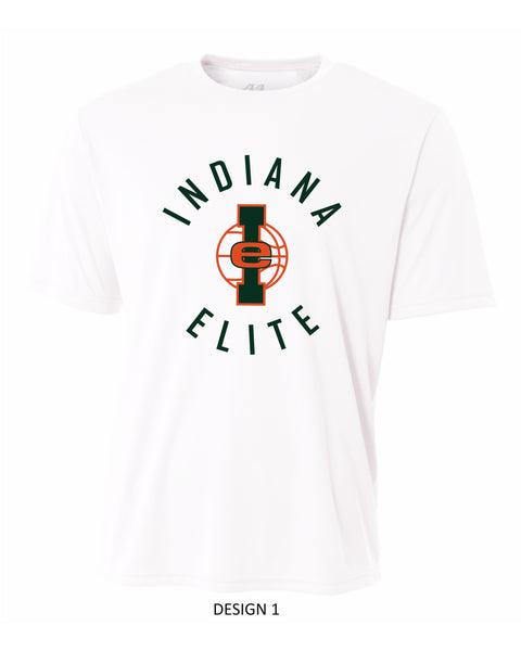 White Indiana Elite Dri Fit Short Sleeve T-Shirt
