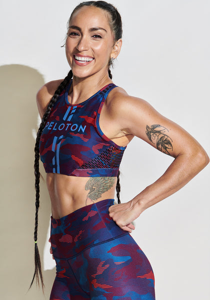 Peloton Camo Pop High Neck Bra