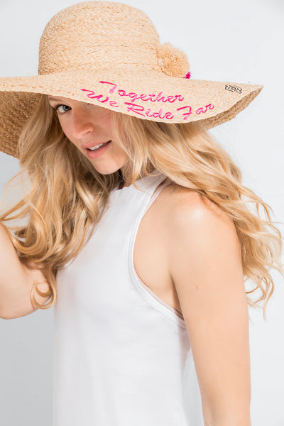 Straw Embroidery Hat