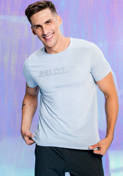 Peloton Frosted Blue Tech Tee