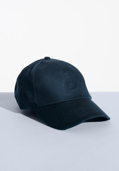 Navy Embossed Hat