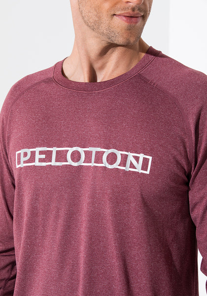Peloton Metal Vent Tech Long Sleeve (Smoky Red)