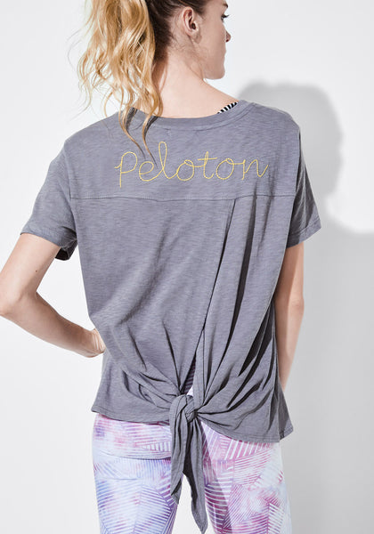 Tie Back Embroidered Tee