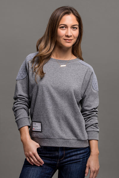 Emma Lovewell Collection Quilted Sweatshirt
