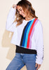 Stripe Crew Sweatshirt