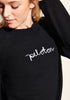 Peloton Embroidered Cashmere Sweater (Black)