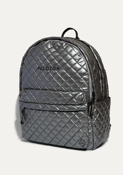 Peloton Metallic Silver Backpack
