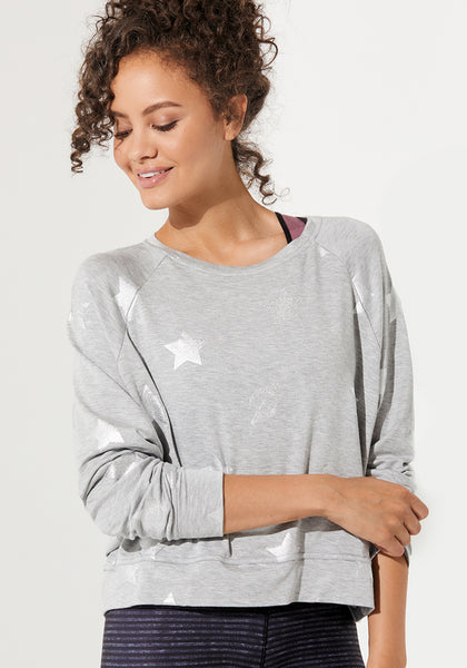Silver Foil Athletic Crewneck