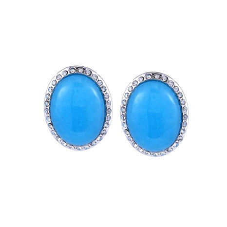 "Roberto by RFM ""Positano"" Resin Cabochon Earrings"