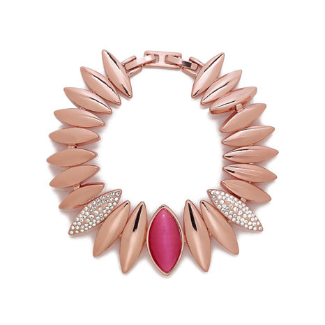 Roberto by RFM Rigid Stella necklace with colorless crystals