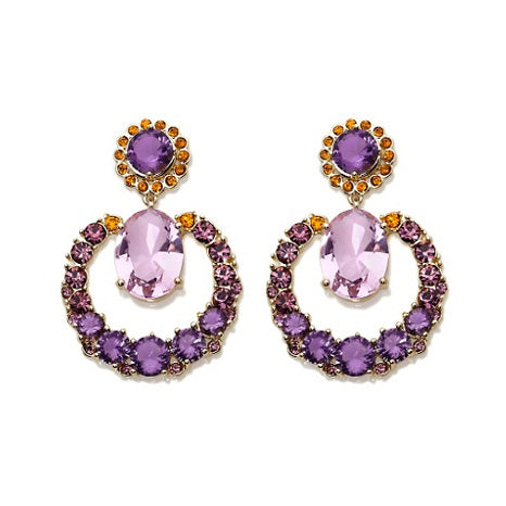 "ROBERTO BY RFM ""VIOLA"" PURPLE AND ORANGE STONES"
