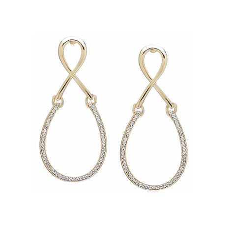 "Roberto by RFM ""Nodo D'amore"" Small Hoop Earrings with Pavee"
