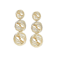 ROBERTO BY RFM EARRINGS WITH ROUND ELEMENTS WITH CRYSTALS